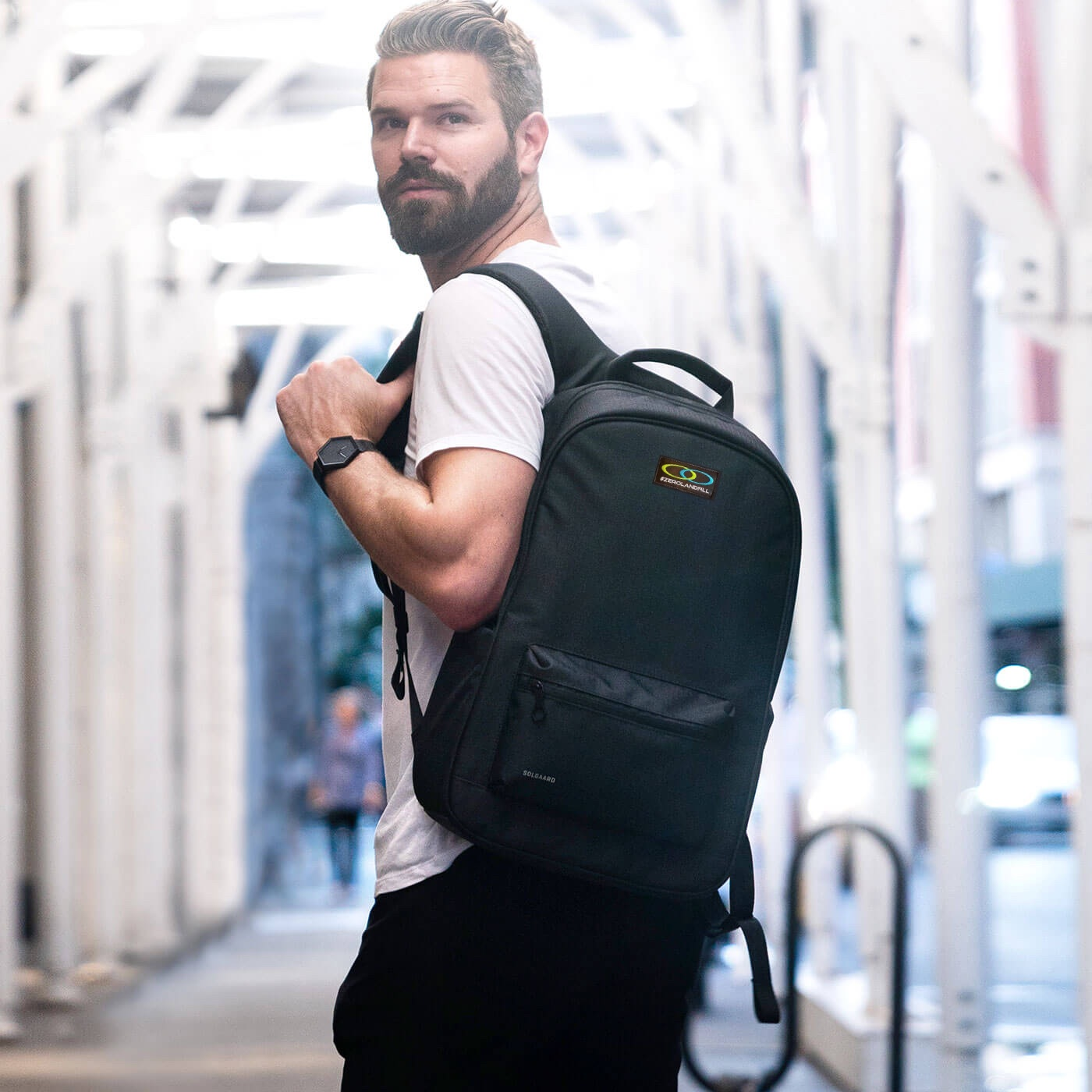 Daypack made from recycled ocean plastic